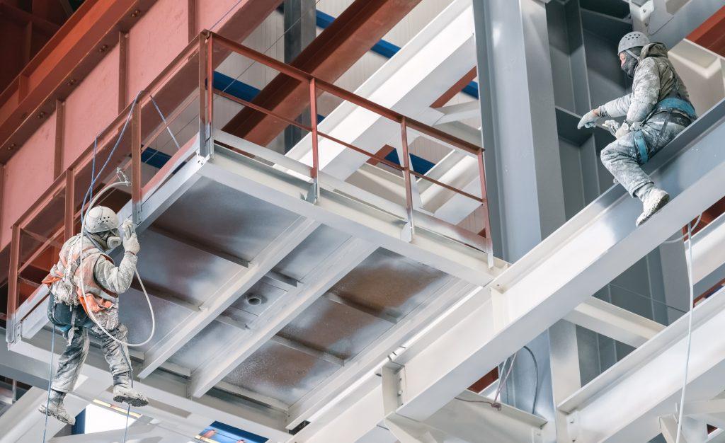 Carboguard 60 applied on steel beams